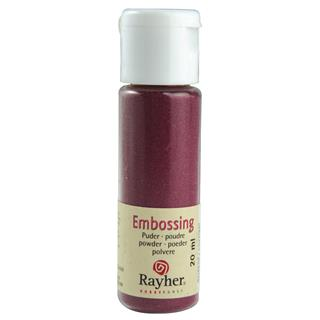 Prah za embossing, bordo rdeč, opak, 20 ml