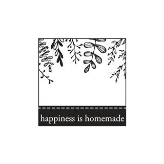 "Štampiljka ""happiness is homemade"", 5x5cm"