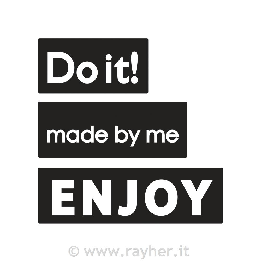 "Odtisi za kalup: ""made by me"",""ENJOY"",""Do it!"", 30x15mm, 40x"