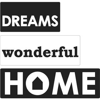 Odtisi za kalup: Dreams, Wonderful, Home, 3kosi