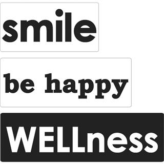 Odtisi za kalup: smile, be happy, Wellness, 3 kosi