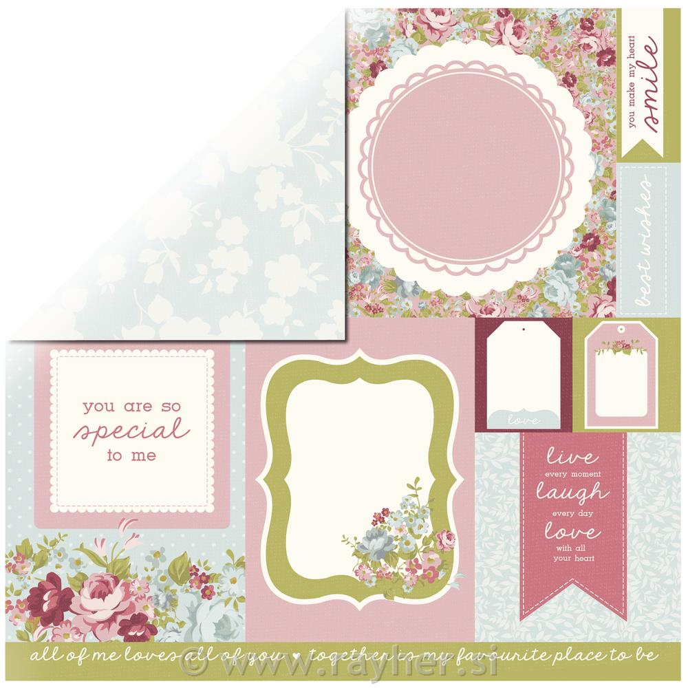 Scrapbooking papir Path
