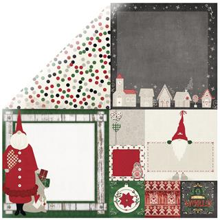 Scrapbooking papir Father Christmas