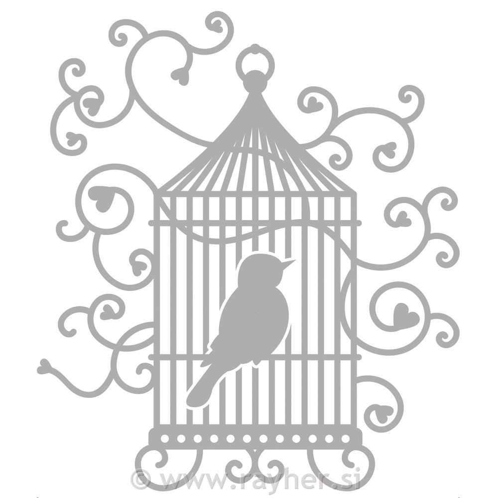 Rezultat iskanja slik za Rezalna šablona Delicate Ptičja kletka, 10,5x11,9cm