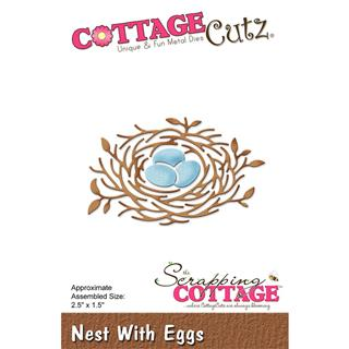 Šablona CottageCutz, Nest With Eggs