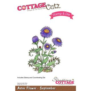 CottageCutz šablona & štampiljka, Aster Flowers - September