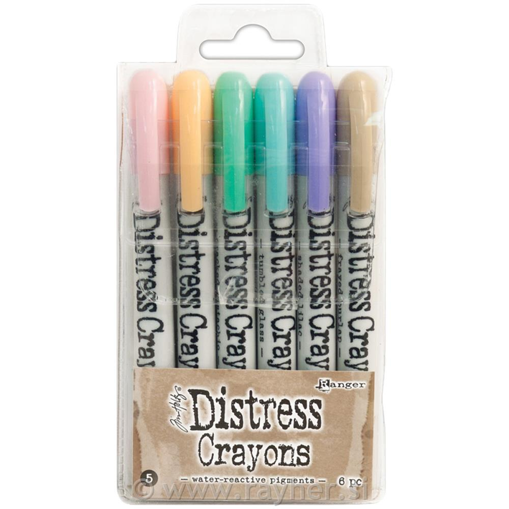 "DISTRESS CRAYON, SET ""5"""