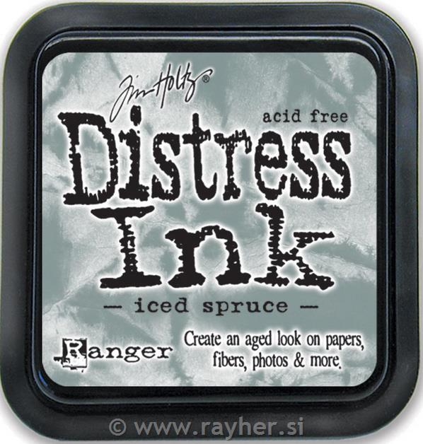 Distress Ink blazinica,Iced Spruce