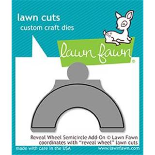 Šablona Lawn Fawn, Reveal Wheel Semicircle Add-On