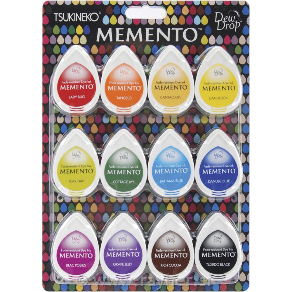 Rezultat iskanja slik za Blazinice za štampiljke, Memento dye ink, set 12