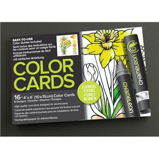 Pobarvanka Chameleon Color Cards-Flowers