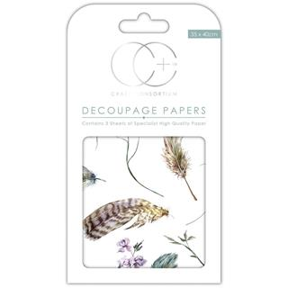Decoupage papir, Take Flight, 3 pole 35x40 cm, 23gsm