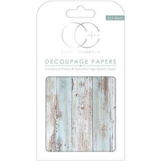 Decoupage papir, Seaspray, 3 pole 35x40 cm, 23gsm