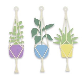 Sizzix Thinlits šablone, Hanging Planter