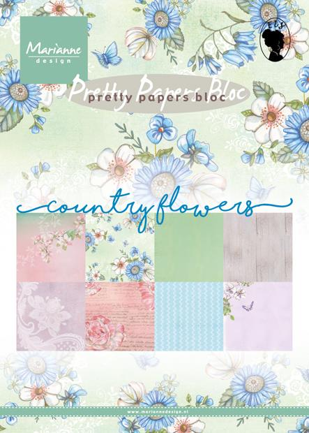 SET PAPIRJEV MD, A5,SET 32,COUNTRY FLOWE