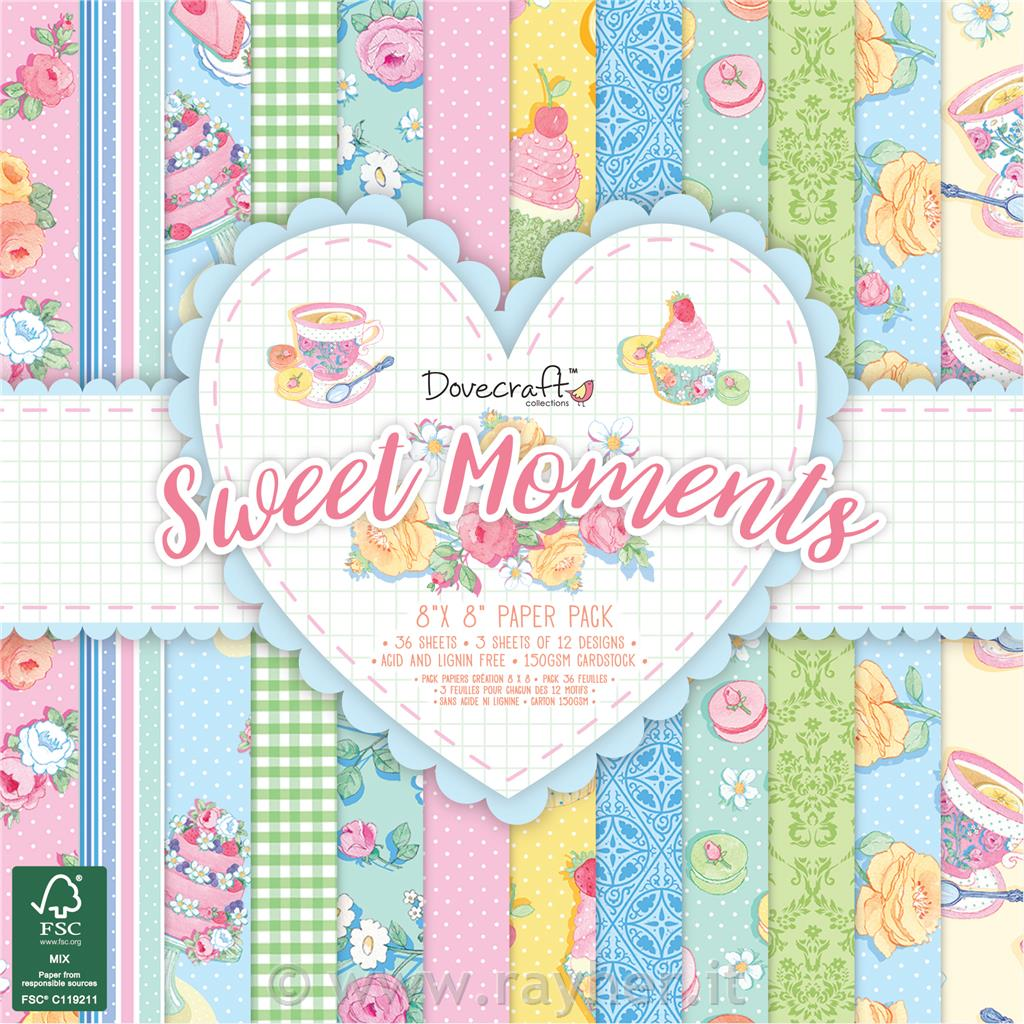 Set papirjev Sweet moments 20x20 cm, set 36