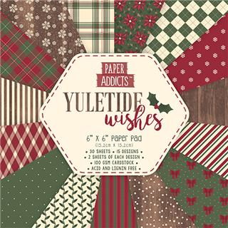 SET PAPIRJEV YULETIDE WISHES CHRISTMAS,15X15, SET30