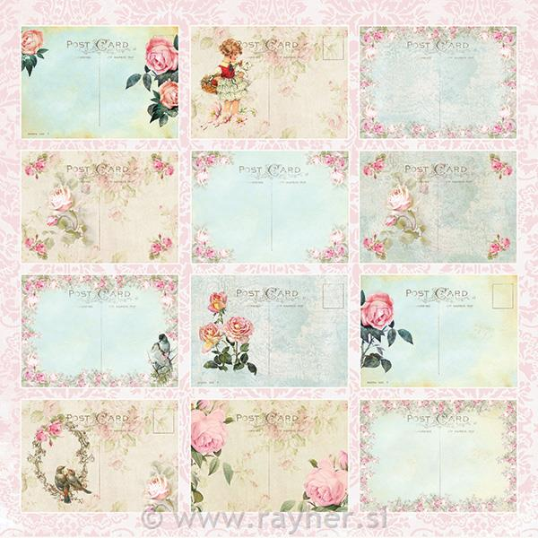 Scrapbooking papir Beautiful Day 07, 200gsm