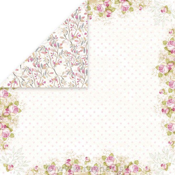 Scrapbooking papir White Day 04, 250gsm