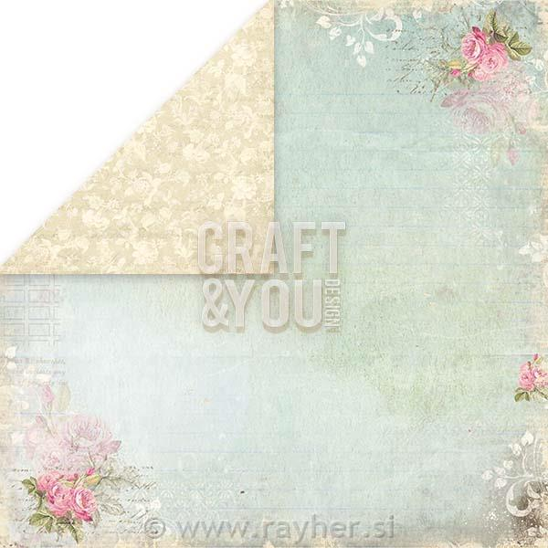 Scrapbooking papir Wedding Garden 04, 250gsm