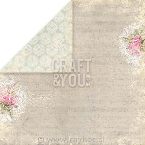 Scrapbooking papir Wedding Garden 05, 250gsm