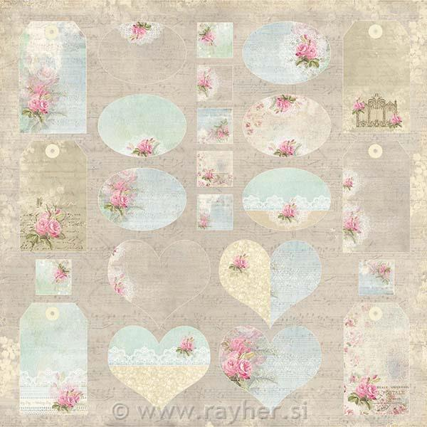 Scrapbooking papir Wedding Garden 07, 250gsm